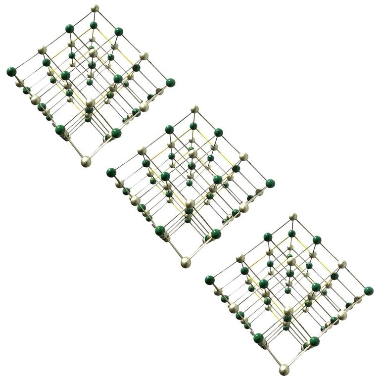 Wall Hanging Made of Molecule Models For Sale