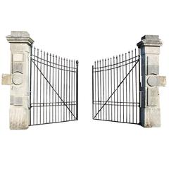 Antique Gate and Gate Posts 19 the Century