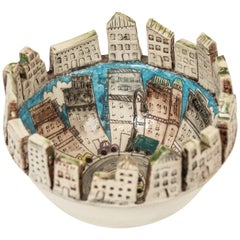 """Fire Escape"" Ceramic Bowl by Nisha"