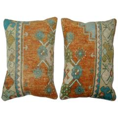 Orange Turkish Rug Pillows