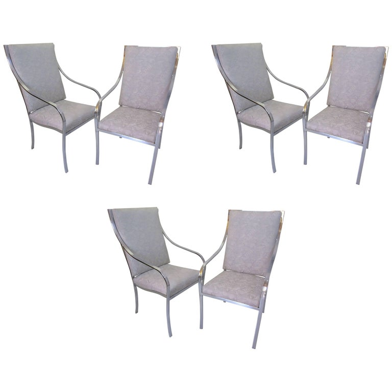 Milo Baughman for Thayer Coggin Six Dining Chairs 1