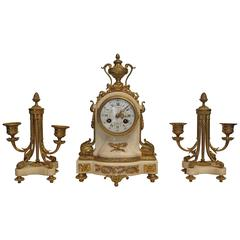 19th Century French Clock Garniture by A.D.Mougin