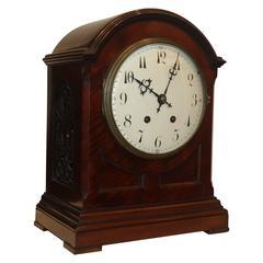Edwardian Mahogany Table or Mantel Clock