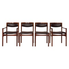 Set of Four Danish Rosewood Dining Chairs for Sax Mobler
