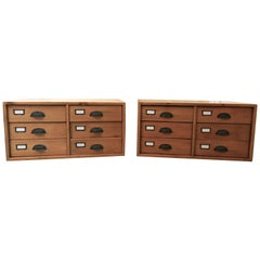 Pair of Stacking Filing Cabinet Drawers, Side Tables, or Large Coffee Table