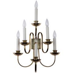 Italian Brass Sconces, circa 1960