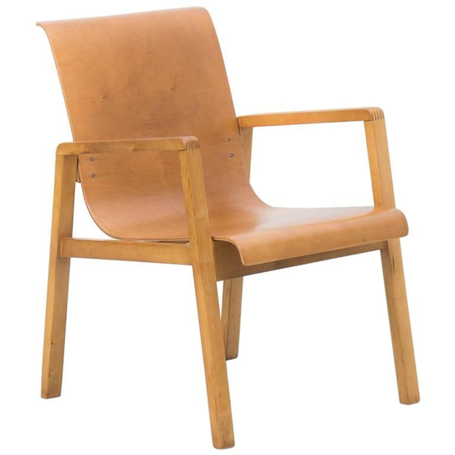 Vintage aalto chair - Early Finmar Production Alvar Aalto 403 Hallway Chair For Sale At 1stdibs