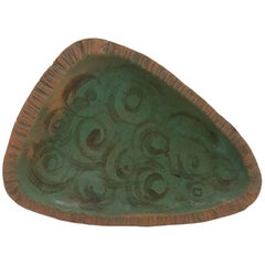 Rose Dodds Abstract Studio Ceramic Tray 1960s, California