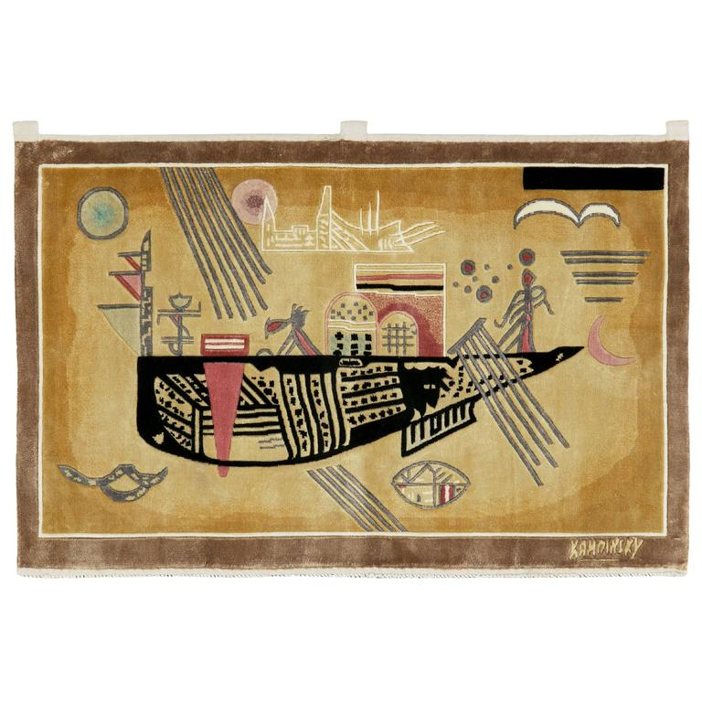Modern Wall Hanging Rug After Wily Kandinsky For