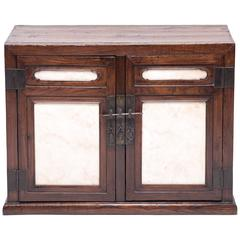 Chinese Chest with Marble Paneled Doors