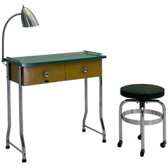 1954 Manicure Table and Stool by Theo A. Kochs
