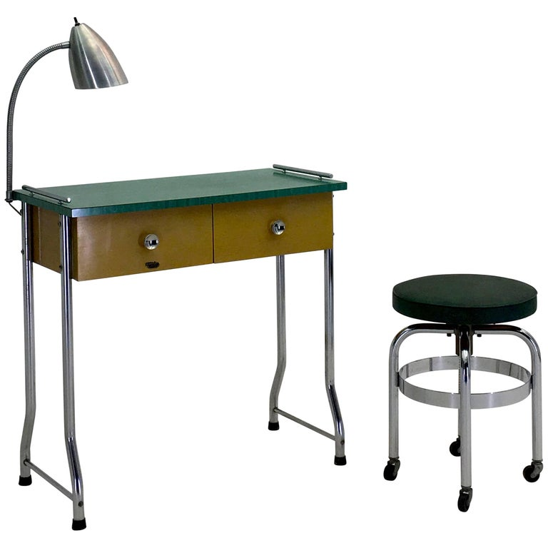 Manicure Table For Sale >> 1954 Manicure Table And Stool By Theo A Kochs