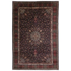 Vintage Persian Tabriz Palace Size Rug with The Ardabil Carpet Design