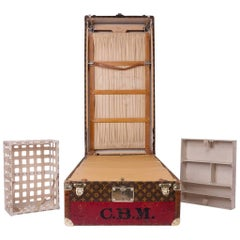 20th Century Rare Louis Vuitton Woven Canvas Wardrobe Trunk, circa 1930