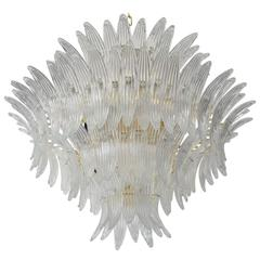 Italian Murano Palmette Glass Chandelier