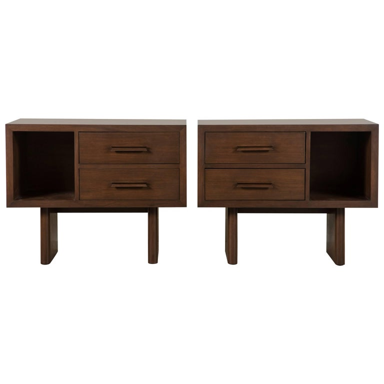 Pair of Inverness Nightstands by Lawson-Fenning 1