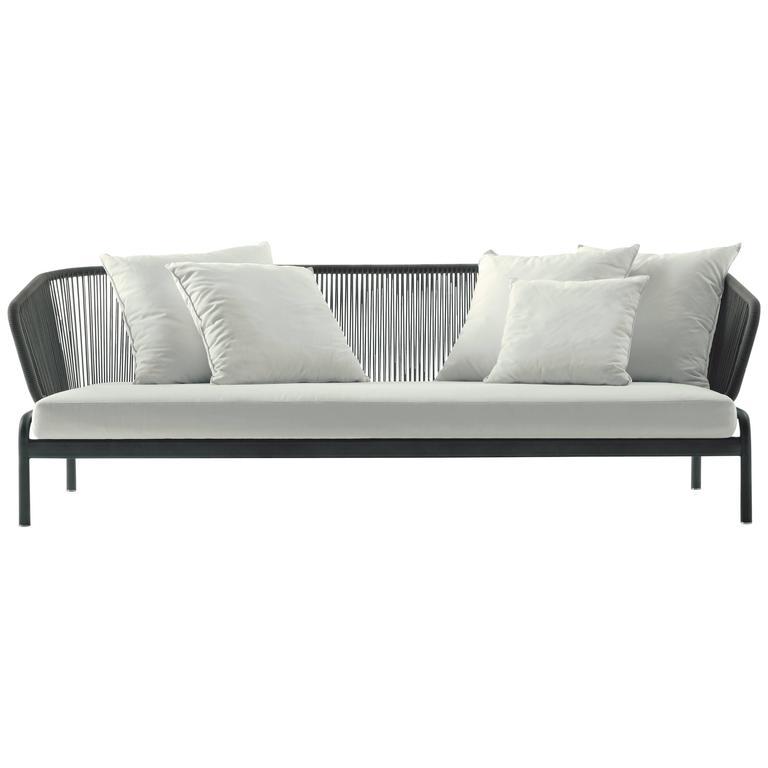 RODA Spool three-Seat Sofa for Outdoor/Indoor Use by Rodolfo Dordoni For Sale