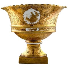 Antique French Great Centerpiece in Sevres/Paris Style, Gold-Plated