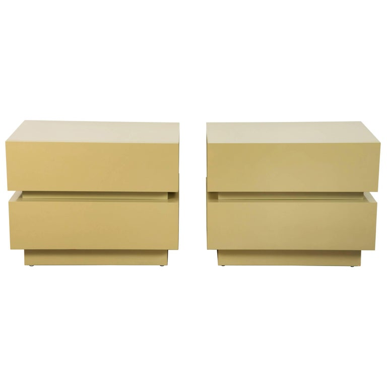 Pair of Large Stacked Box Nightstands by Lawson-Fenning 1