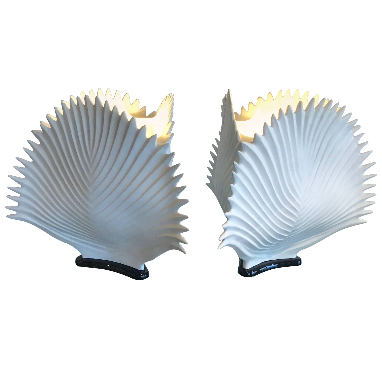 Italian Bisque Porcelain Lamps
