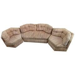 Fantastic Milo Baughman Four-Piece Octagon Sofa Sectional Mid-Century Modern