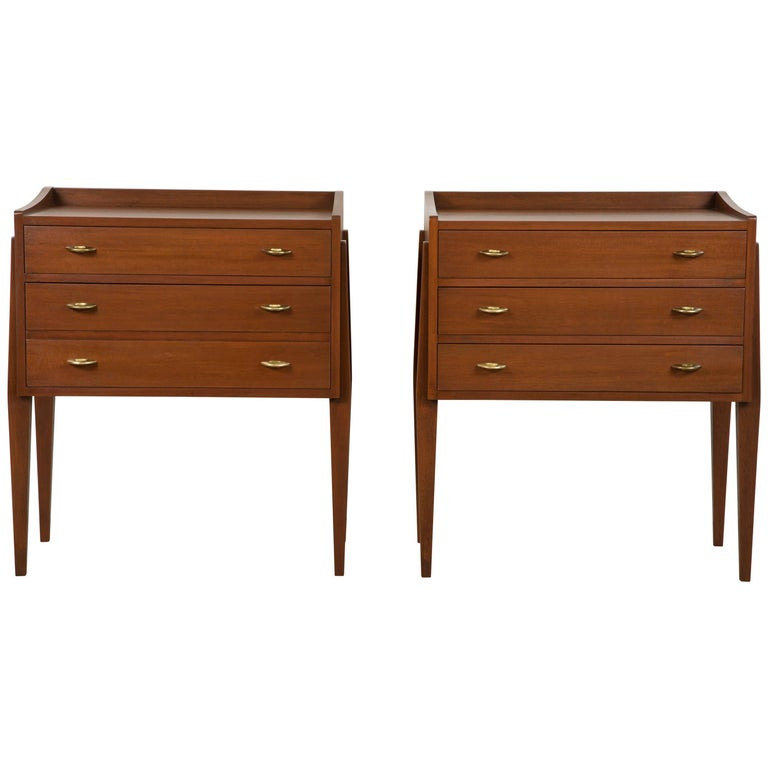Pair of Teak Nightstands by Frode Holm for Illums Bulgihus 1