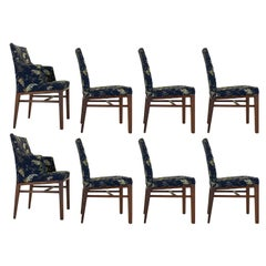 Set of Eight Dunbar Dining Room Chairs by Edward Wormley in Walnut