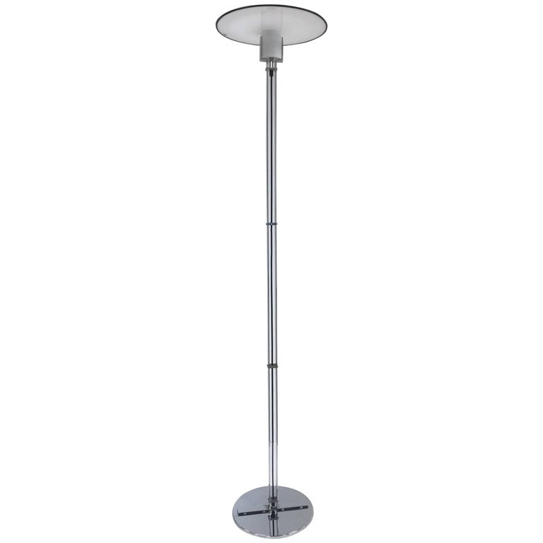 Murano Glass and Chrome Floor Lamp by VeArt