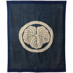 18th Century Japanese Tsutsugaki Indigo Futon Cover