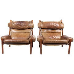 Pair of Inca Lounge Chairs by Norell