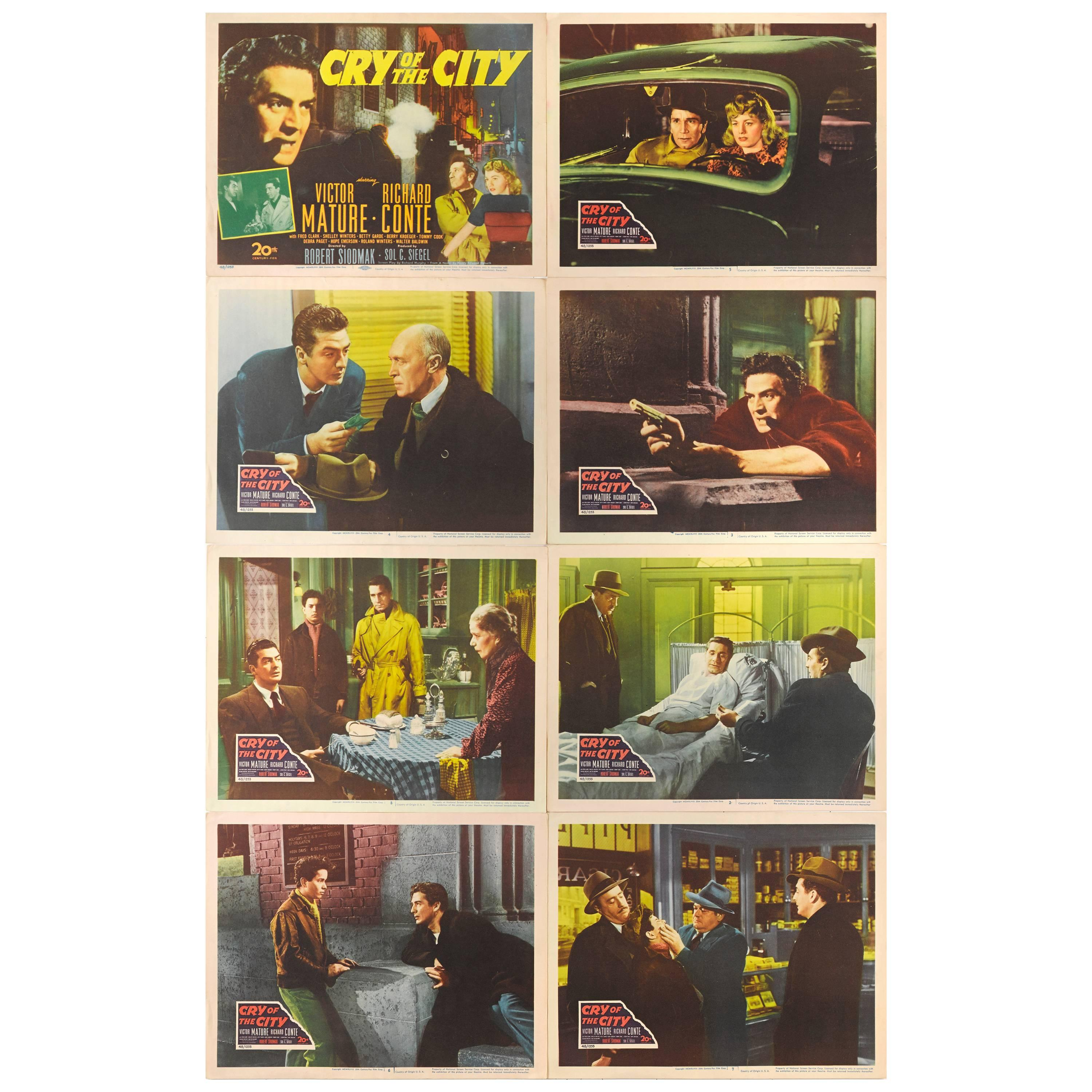"""""""Cry of the City"""" Original American Lobby Cards"""