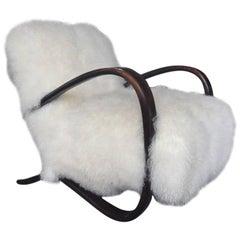 Halabala Easy Chair in Exclusive Tibetan Lamb Wool
