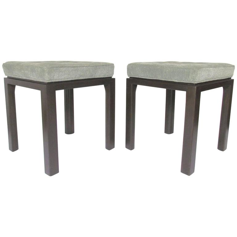 Pair of Mid-Century Modern Stools by Harvey Probber For Sale