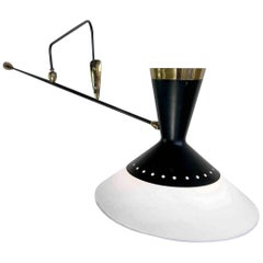 Maison Arlus, Large Counter Balance Wall Lamp, France, 1950