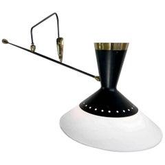 Maison Arlus, Large Counter Balance Wall Lamp, France, 1950
