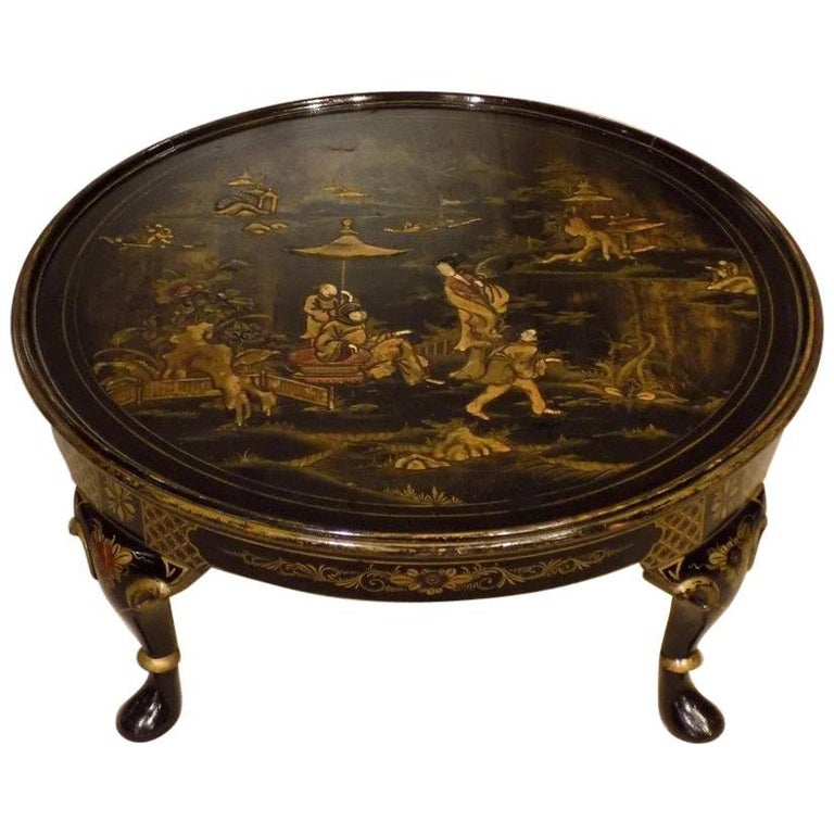 1920s Period Chinoiserie Lacquered Antique Coffee Table 1 - 1920s Period Chinoiserie Lacquered Antique Coffee Table At 1stdibs
