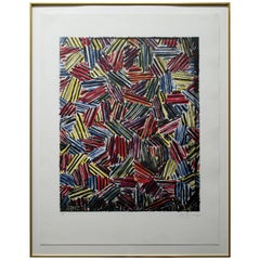 Contemporary Cicada 1981 by Jasper Johns Color Lithograph Signed Numbered 39/58