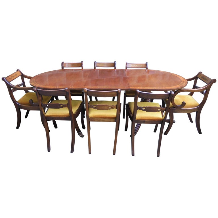Antique Matching Mahogany Dining Table and Eight Chairs at  : 8020483master from www.1stdibs.com size 768 x 768 jpeg 47kB
