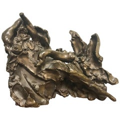 Leda and the Swan Bronze Sculpture by Reuben Nakian Signed and Numbered