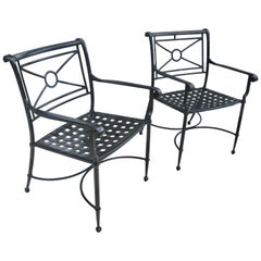 Pair of Patio Armchairs in Black
