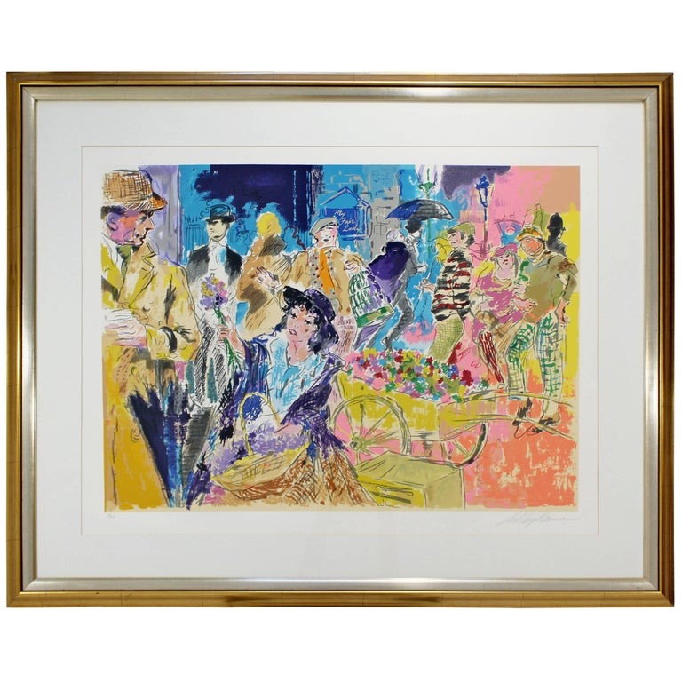 Mid-Century Modern Leroy Neiman Litho Signed Numbered 1/300 My Fair Lady Framed