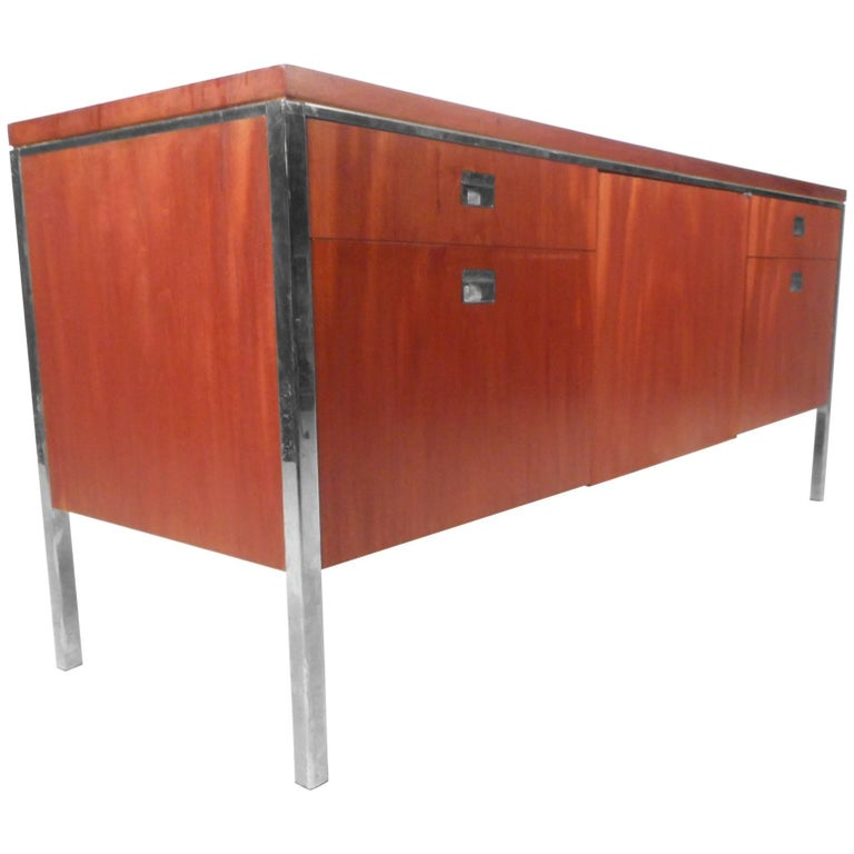 mid century modern knoll style office credenza for sale at 1stdibs. Black Bedroom Furniture Sets. Home Design Ideas