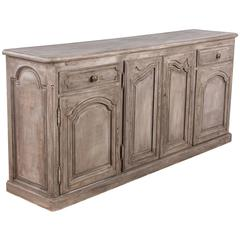 Louis XIV Style Painted Walnut Enfilade Buffet, Early 1900s