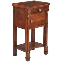 French Empire Period Walnut Bedside Cabinet, Early 1800s