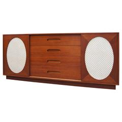 Mahogany and Lacquer Sideboard by Harvey Probber