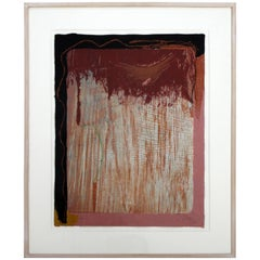 Tribal Sign Lithograph by Helen Frankenthaler 4/47 1987 Signed Numbered & Dated