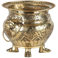 French Renaissance Style Sculpted Brass Wine Cooler, 1870s