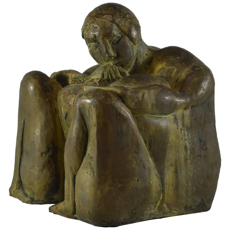 "Modern Bronze Sculpture Signed and Numbered by Leonard Schwartz ""57"" 2/7 For Sale"