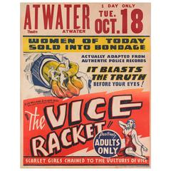"""""""Gambling With Souls / The Vice Racket"""" Original American Movie Poster"""