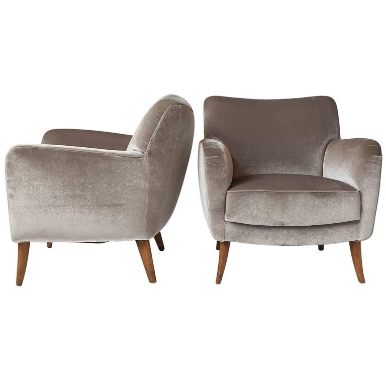 Pair of Lounge Chairs by Giorgio Ramponi